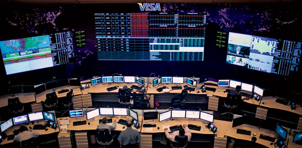 command room inside Visa's Operations Center East, where your last credit-card purchase was scrutinized. | Photo by Melissa Golden