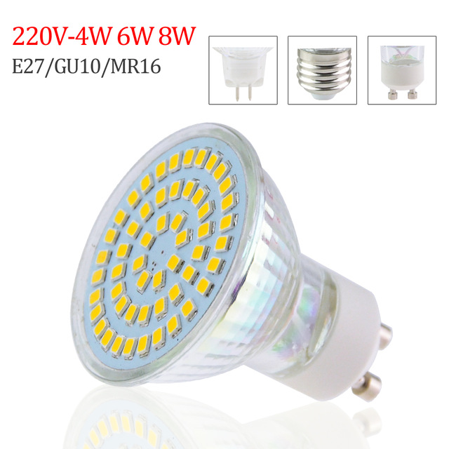 GU10-MR16-E27-LED-Light-emitting-diode-220V-4W-6W-8W-Bombilla
